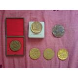 6 Medallas Antiguas Conmemorativas De Rusia.