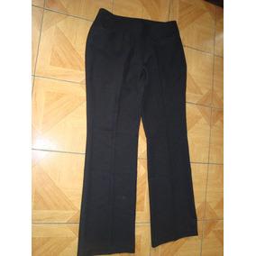 Pantalón De Tela Negro Talla L O 46 A Solo$ 5500