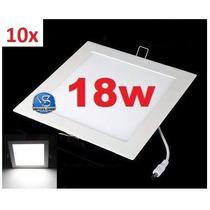 Kit 10 Painel Plafon 18w Luminária#- Frete Mais Barato