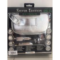 Kit Com 20 Acessorios Silver Para O Nintendo Ds Xl
