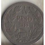 Moneda De 1 Peso 1933 / República De Chile