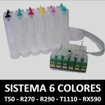 Sistema Tinta Continua Impresoras T50 R290 T1110 Rx590