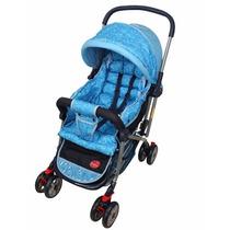 Carrinho De Bebê Alça Reversível Azul