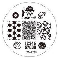 Placa Para Decoración De Uñas Con Sello Om-c26