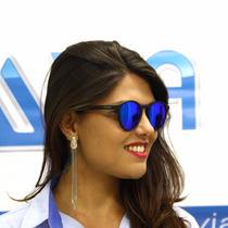 Óculos De Sol Polaroid Redondo 6013 Dl5 Jy Preto Polariza