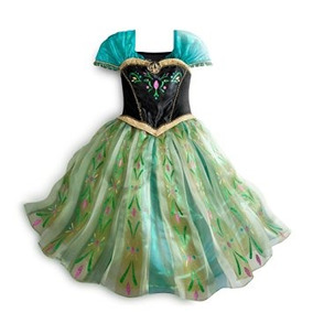 Disfraz Niña Disney Store Congelado Princesa Ana De Vestuar