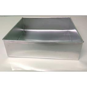 Forma Quadrada Pra Bolo Aluminio 40 X 10