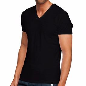 Camisa Masculina Gola V 100% Algodão Pronta Entrega Slim Fit