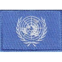 Onu Naciones Unidas Bandera Parche Bordado Militar Tactico