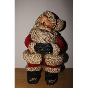 Antigua Figura De Santa Clauss En Barro