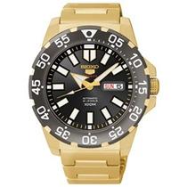 Relógio Seiko 5 Sports Dourado Automatico 24 Jewels+frete