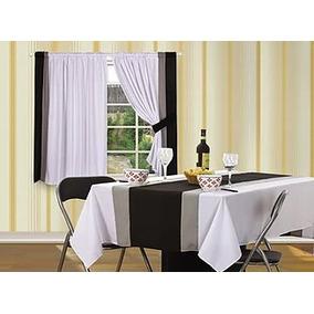 juego de cortinas ad corta paos vinci blanco negro gris