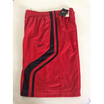 Short Basketball Nike Basquetbol Rojo Con Franjas Negras