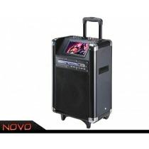 Caixa Som Ativa Amplificada Dvd Napoli Npl 1112