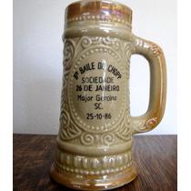 Antigo Caneco De Chop Decorativo Porcelana Santa Isabel#2369