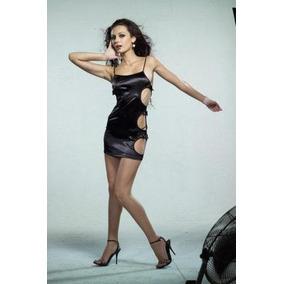 3c38fb09622 Sexy Mini Vestido Negro Abierto A Los Lados Unitalla