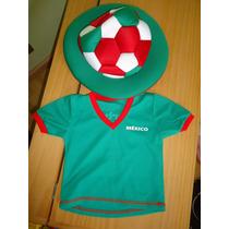 Playera Mexico Kleen Bebe Y Sombrero Bombacho