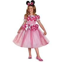 Disfraz Disney Minnie Mouse Mimi Niña Vestido Rosa Talla 3/4