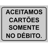 Placa N O Aceitamos Cart Es No Mercado Livre Brasil