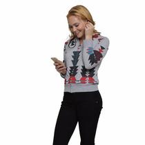 Sudadera Con Audifonos Integrados Mujer Dama Gym Triangulos
