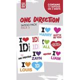 Tatuajes Temporales One Direction 100% Original