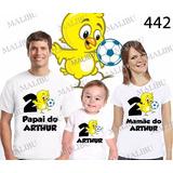 Lembrança De Aniversario Pintinho Amarelinho Camiseta Com 3