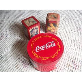 Lote De 3 Latas De Coca Cola