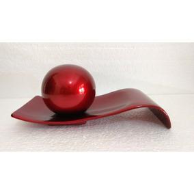 Enfeite Centro De Mesa Onda Em Ceramica Com Bola