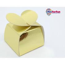 100 Unid Caixa Papel Lembrancinha Dourada Ouro Para Bombom