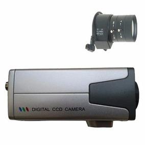 Câmera Vigilância Cftv Profissional Ccd Sony + Lente + Fonte
