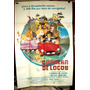 Carrera Locos Automovilismo Rally Afiche Cine Orig 1976 M319
