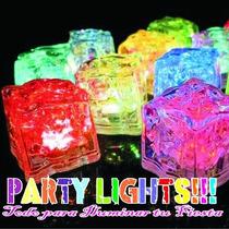 12 Hielos Con Luz Led 7 Colores Iluminacion Antro Bar Hielo