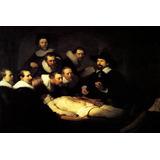 Médico Aula De Anatomia Dr. Tulp Repro Rembrandt Grande Tela