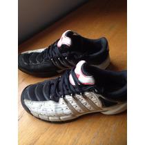 Zapatilla Tenis Talle 5 Usa , Europeo 36 Blanco Y Negro