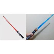 Star Wars Sabre Retrátil 63,5cm C/som E Luz Vermelha Ou Azul