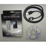 Cabo Usb + Cd P/ Celular Lg Kp106 Kp105 Kp151 Kf510 Kp570