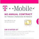T-mobile Tarjeta Sim Nano Para Cualquier Desbloqueado Teléfo