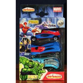 X Men - Spiderman Tripack Vehiculos Majorette