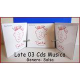 Dante42 Lote 03 Cds Musica Raul Romero Solito Genero Salsa