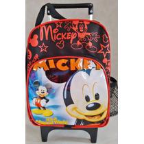 Mochila Pequena Carrinho 30cm Mickey (preta)
