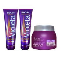Shampoo E Condic Violet Biocale + Másc Matizadora Forever