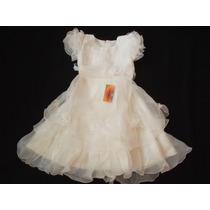 Vestido Infantil Festa/princesa/batizado/florista Branco