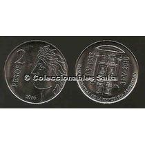 2 Pesos 75 Aniversario Bcra De 2010, Unc, Sin Circular