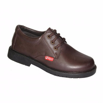 Zapatos Escolares Cordon Marcel Marron Nuevos Al Costo!