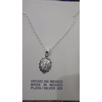 Cadena Y Medalla Para Bautizo Comunion O Cruz Plata Ley 925