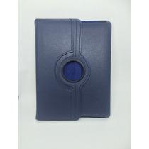 Case Capa Giratória Azul De Couro Para Tablet Ipad 2 E 3