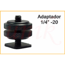Adaptador Tornillo 1/4¨ -20 Zapata P/ Tripode Photo Video