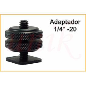 Adaptador Tornillo 1/4¨ -20 Zapata P/ Tripode Photo Video