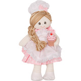 Boneca Confeiteira Para Meninas Tecido Plush P