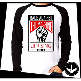 Manga Longa Rage Against The Machine Banda Rock Blusa Q03